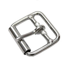 Metal square roller buckle welded with one bar for dog collar handbag