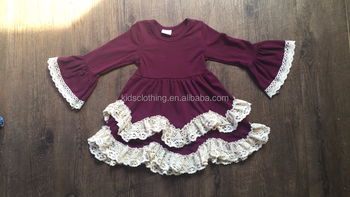 kids clothing suppliers china girls solid color cotton lace dress girls boutique dress wholesale