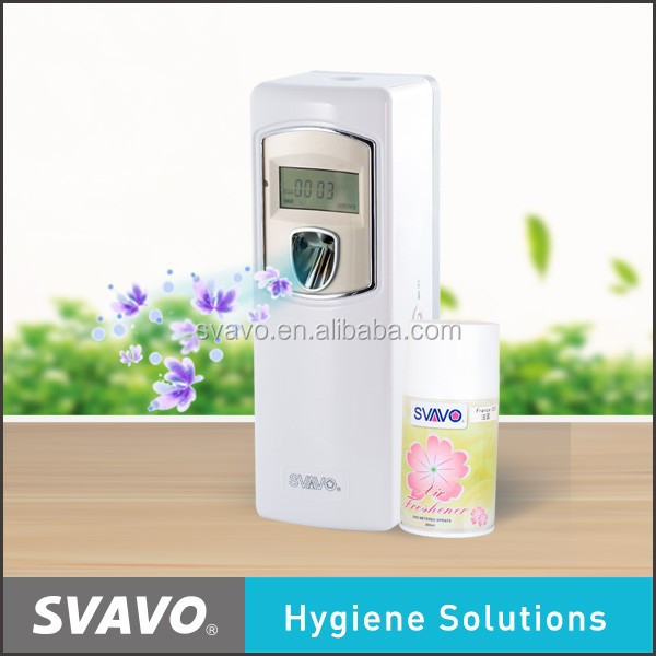 2017 Newly Hotel Toilet Plastic Auto Aerosol Air Freshener With LCD