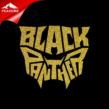 china wholesale Iron on Black Panther glitter heat transfer vinyl supplier