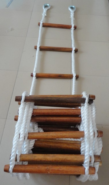 how to make a rope net ladder