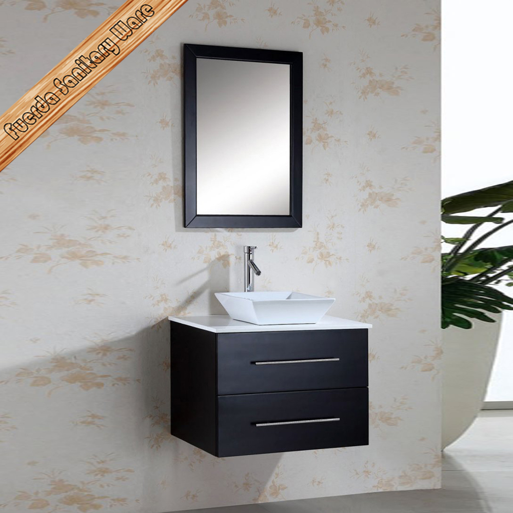 Wall mounted modern solid wood bathroom cabinet with mirror fed 1302 buy 30 commercial - Solid wood bathroom wall cabinet ...