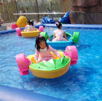Manufacture water park aqua adult kids hand paddle boat manufacture factory in china