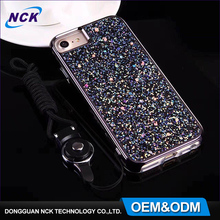 MOQ=100pcs free sample custom for any phone model glitter cover 2 in 1 tpu pc combo hybrid case for iphone 5 6 7