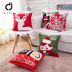 Cheap PP 45*45 embroidery 100% cotton bed cushion decorative custom cushion cover