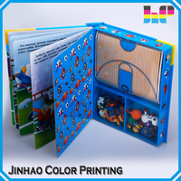 Children book/children cardboard book printing with toy