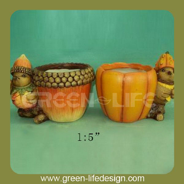 Thanksgiving resin pumpkin pot
