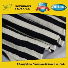 SANMIAO Brand 2015 new designs cotton grey and white stripes fabric SBWHCP-165