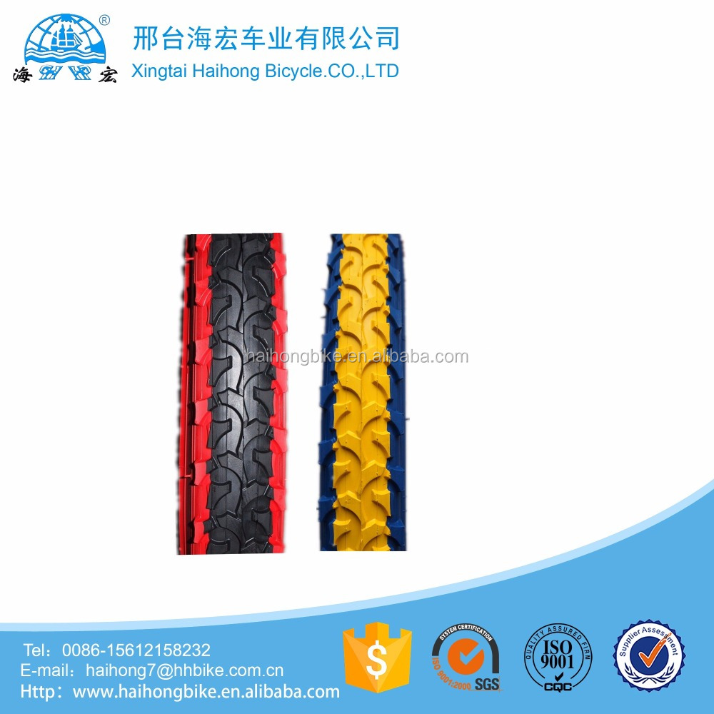 2017 new style 26*2.125 bicycle color tire/colored tyre for mountian bkes