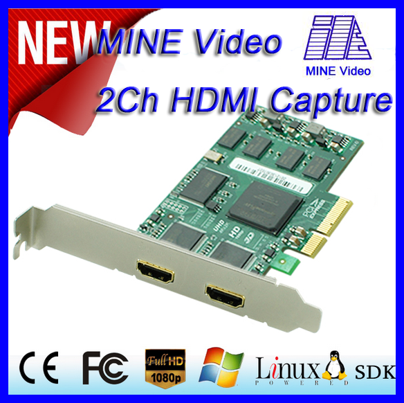 2016 NEW Simultaneously capture 2 HDMI,support the capture of standard 3D images by HDMI 1.4a