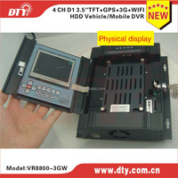 shenzhen manufacturer 4 ch hdd ssd mobile dvr with RJ45 port ,VR8800-3GW