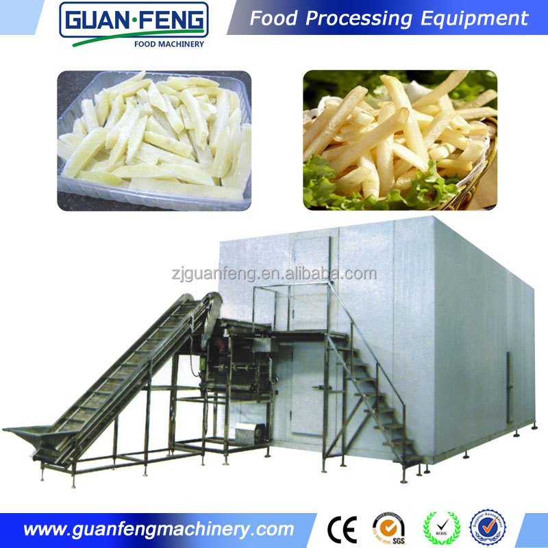 frozen french fries production / french fries processing line equipment