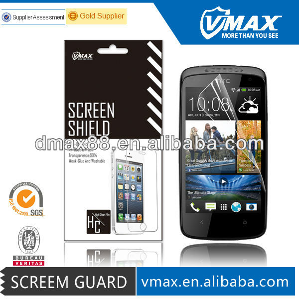 HD anti glare screen shield for HTC desire 500