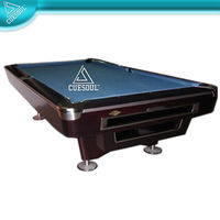 9ft Deluxy Solid Wood Pool Table with 3-piece slate