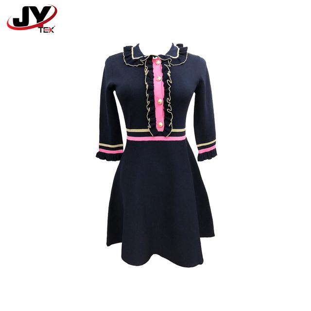 JYTEX brand ladies fall season long sleeve petite modest sweater dress