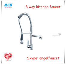 UPC pull out 3 way kitchen faucet flexible hose for kitchen