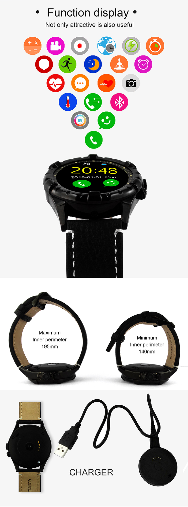 2019 New Arrivals Men Sport Fitness Relojes Inteligentes Bluetooth smart watches new arrivals 2019