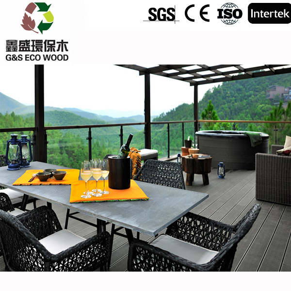 Fireproof wpc timber Water Resistance outdoor wpc decking for terrace