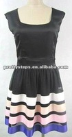 2012 PrettySteps new fashion new design ribbon multi color high quality in stock top selling women or lady causal dress