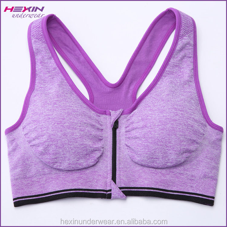 Fashionable Purple Wholesale High Impact Elastic Band For Sports Bra