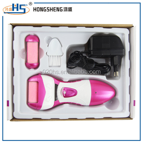 Foot File for Scrubbing Feet Rechargeable Electric Callus Remover with 2 Rollers