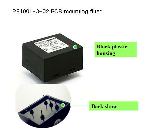 3A 120/250VAC PE1001-3-02 electrical passive filter for exchange machine