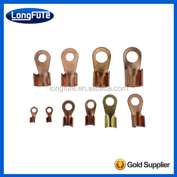 Cable flat mechanical copper compression terminal lug with silvery color in China