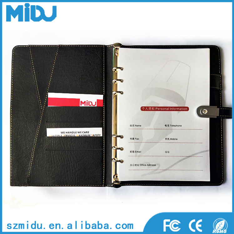 Customer leather bound diary notebook printing factory for printed services