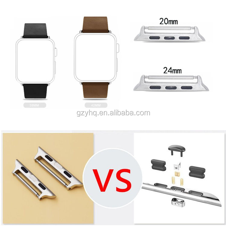 316L Stainless Steel Spring Bar Metal Clasp for Apple Watch, for Apple Watch Band Adapter
