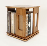 Disassembly revolving BamBoo Book shelf for living room wooden bookcase