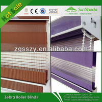 Colorful Polyester Material Motorized Zebra Blind Curtains