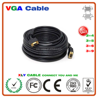 High Quality Male to Male VGA Cable, 3+2, 3+4, 3+6, 3+9 Type, Blue / Black Color Optional, Various Length Available