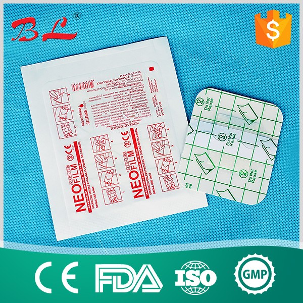 2018 adhesive waterproof transparent wound dressing