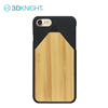 Pencil design bamboo engraving wood pc back cover cell for iphone7 mobile phone shell case