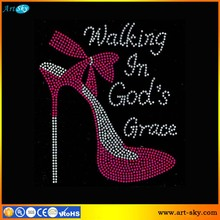 Artsky resealable poly bags package FUCHSIA Religious Walking in God s Grace Heel Stiletto spangle transfer