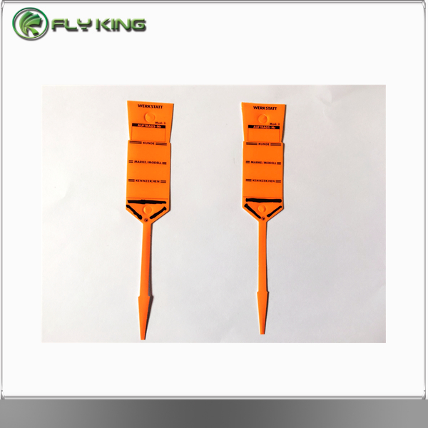 auto service self locking arrow key tags