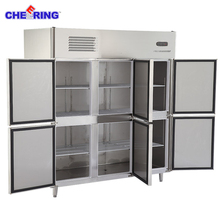 Kitchen Appliance Six doors fridge refrigerator meat freezer for restaurant
