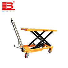 300kg Good supplier mini hydraulic scissor motorcycle lift table for sale