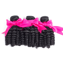 brazilian human hair wet and wavy weave ebony spring curl remy hair extension