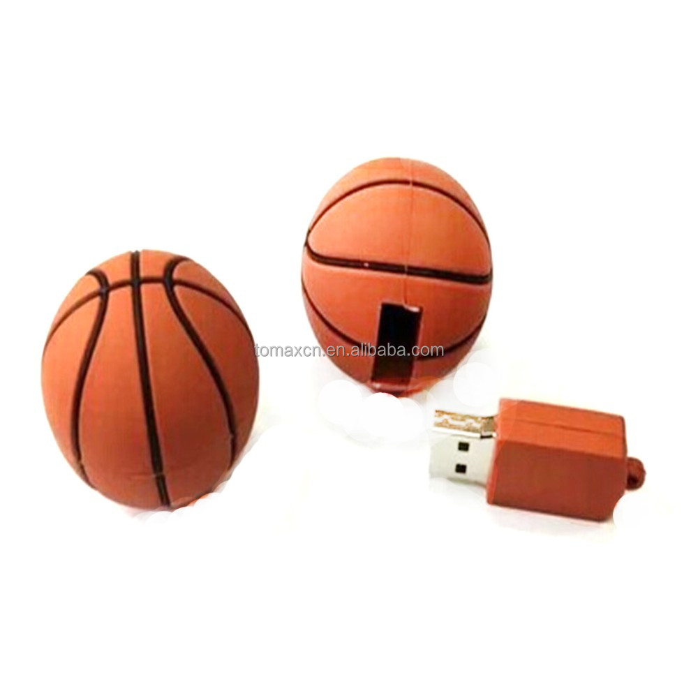 Good sale on alibaba basket ball designer usb flash drives wholesale