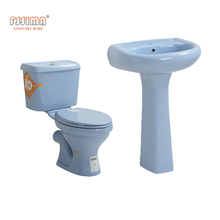 Modern Style Sanitary Ware Water Saving popular color Two Piece Toilet