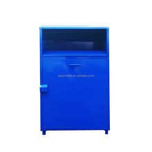 Assemble metal outdoor customized metal clothes donation bin recycle collection bin clothing recycling bins for sale