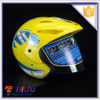 Good material yellow free motorcycle helmet on off road