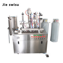 Automatic Spray Can Pu Foam/Polyurethane Foam Aerosol Filler/Filling Machine