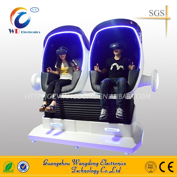 Interactive Virtual Reality Equipment robot 3 Seats 360 Degree Egg VR Cinema Simulator 9DVR