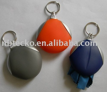 Glasses cleaner keychain(with glasses cleaning cloth)