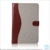 Jeans pattern wallet pu leather cover case for ipad mini 4