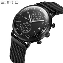 Domed crystal fluorescent dial classic brand japan movt quartz watch chronograph stainless steel bezel