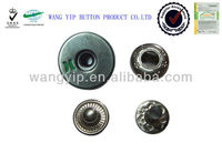 15mm new fashion top open hole metal snap button