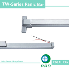 Alarmed Stainless Steel Exit Door Bars Work with Electric Strike, TW1UL512S RRD Lock